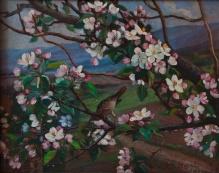 Stępień Jan (1895-1976) Kwitnąca jabłoń w Karpaczu, 1949r.