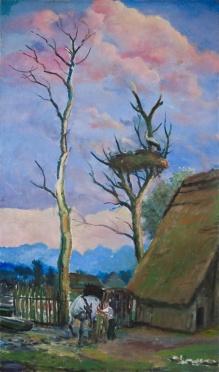 Stępień Jan (1895-1976) Pod bocianim gniazdem