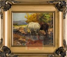 Wierusz-Kowalski Alfred (1849-1915)   Odpoczynek koni