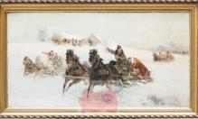 Wasilewski Czesław (ok.1875-1947) Wesoła sanna 65x120cm