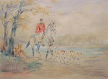 Kossak Karol (1896-1975) W drodze na polowanie
