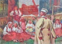 Wodzinowski Wincenty (1860-1940), 50x70 cm Odpoczynek żniwiarzy