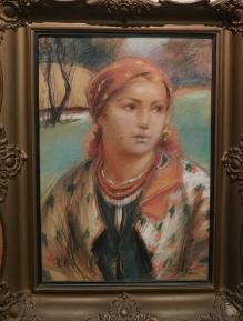 '_____w kolekcjach____Górski Stanisław (1887-1955) Piękna góralka 50x35cm