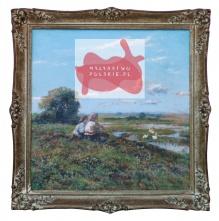 '____w kolekcjach____Korecki Wiktor (1897-1980) Dziewczynki nad rozlewiskiem