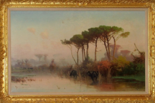 Cieszkowski Henryk (1832-1895) Pejzaż z piniami