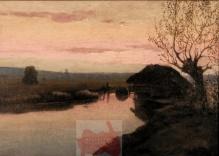 Korecki Wiktor (1897-1980) 50x72 cm Młyn nad Rawką