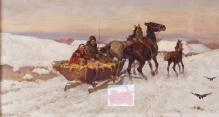 Adam Setkowicz (1876-1945)  Konie ( na targ)