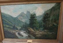 ___Sprzedane___Balukiewicz Józef ( 1831-1907) Pejzaż górski