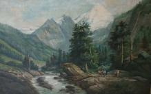 ___ARCHIWALNE___Balukiewicz Józef ( 1831-1907) Pejzaż górski
