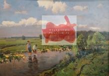 Korecki Wiktor (1897-1980)  Chłopcy brodzący w rzeczce