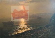 Korecki Wiktor (1897-1980)  Zachód słońca nad brzegiem morza