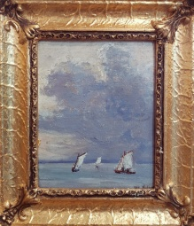 ___ARCHIWALNe___Nałęcz Włodzimierz (1865-1946) Żaglówki na wodzie
