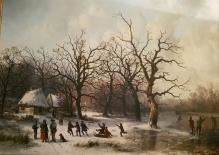 Josef Karl Berthold Püttner (1821-1881)  Zima nad rzeką