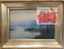 Archiwalne_____Wiktor Korecki (1897-1980)  Kaczki nad wodą  25x35cm