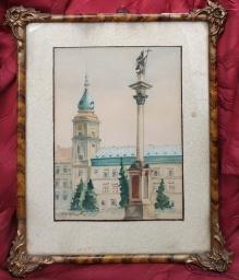 Zamek Królewski w Warszawie, akwarela  30x20cm