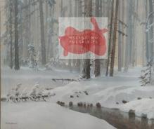 Mackiewicz Konstanty - Struga Leśna Zimą 60x85cm