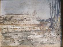 ____ARCHIWALNE___Sipiński Józef Alfred (1886 – 1968) Pejzaż zimowy