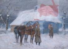 Kossak Jerzy (1886-1955) Puk puk w okieneczko