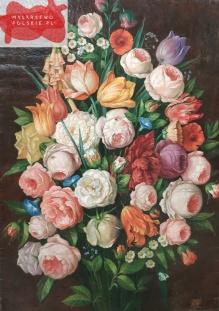 Martwa natura kwiatowa w stylu malarstwa wiedeńskiego I połowy XIX w.