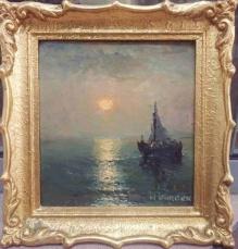 Korecki Wiktor (1897-1980)    Żaglówka w zachodzącym słońcu
