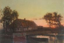 Korecki Wiktor (1897-1980)   Zachód słońca nad wodą