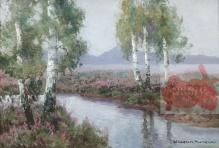 Archiwalne_____Korecki Wiktor (1897-1980) Brzozy nad strumieniem