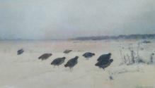 Archiwalne____Korecki Wiktor (1897-1980)   Kuropatwy na śniegu