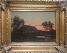 Archiwalne____Korecki Wiktor (1897-1980)   Zachód słońca nad wodą