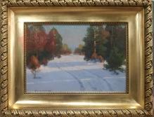 Korecki Wiktor  -  Droga przez las zimą 35x50cm