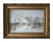 Archiwalne____Klotz H. - Wiejska zagroda zimą