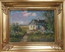 Archiwalne_____Korecki Wiktor ( 1897-1980)  Ogród przed wiejską chatą