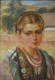 Górski Stanisław 1938r. - Portret pięknej góralki