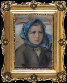 Górski Stanisław - Portret dziewczyny 34x24cm