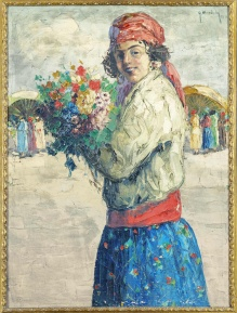 Mendoly Grzegorz (1898-1966)  Piękna cyganka 100x70cm