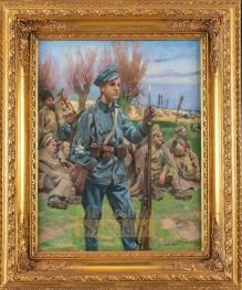 Kossak Wojciech - Widziane nad Nidą 1915