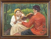 .Wodzinowski Wincenty (1860-1940)  Zasłuchana