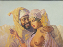 Archiwalne... Szewczenko Konstanty (1910-1991) - 40x50cm, olej, płótno, Arabska para