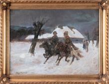 Kossak Jerzy (1886-1955) Bolszewicy kradną gęś