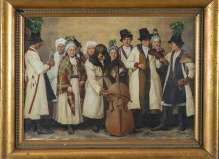 Nowakowski Franciszek -  Grupa Małopolan w Strojach Ludowych